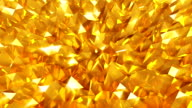 Abstract seamless gold triangular crystalline background animation video