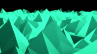 Abstract seamless triangular crystalline background animation video
