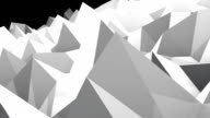 Abstract seamless triangular crystalline background animation video