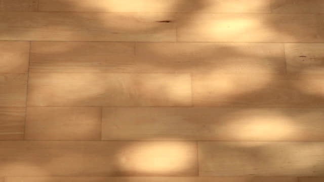 abstract shadow in motion on wood floor video