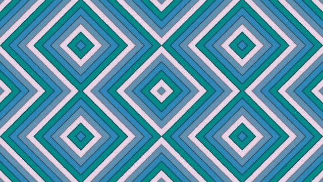 Abstract Shapes Rhombus Colorful Stripes Seamless Looping Animated Texture video