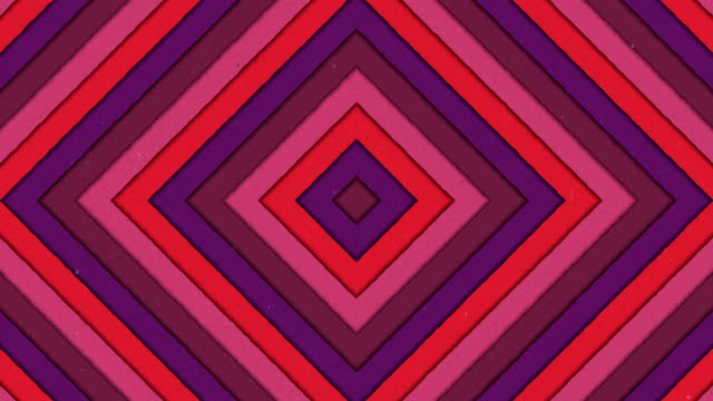 Abstract Shapes Tunnel Rhombus Colorful Stripes Seamless Looping Background video