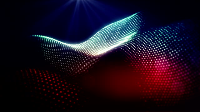 Abstract shapes wavy loop video