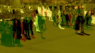 Abstract shot of Pedestrians in slow motion. HD, NTSC, PAL video