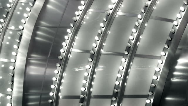 Abstract Silver Chasing Light Marquee Close Up video
