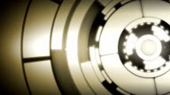 Abstract Silver Circle Spin Motion Background video