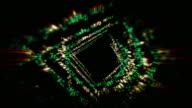 Abstract space particles background,loop video