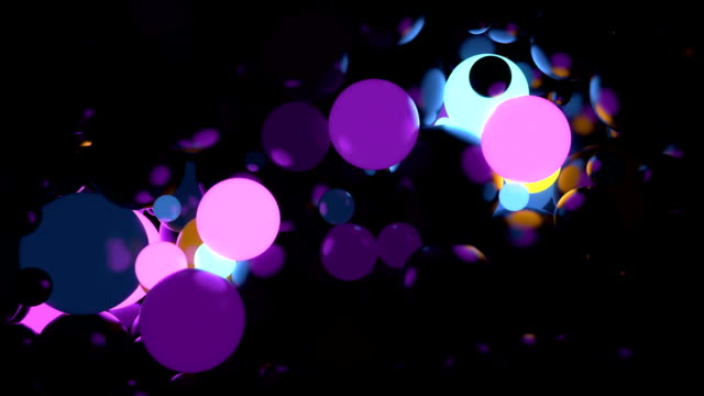Abstract sphere background random glow video