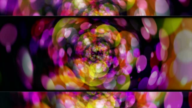 Abstract Spheres Animation Background and Open Bars, with Alpha Channel video