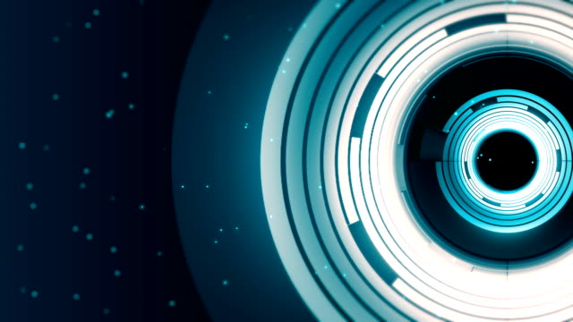 Abstract spinning ring background video