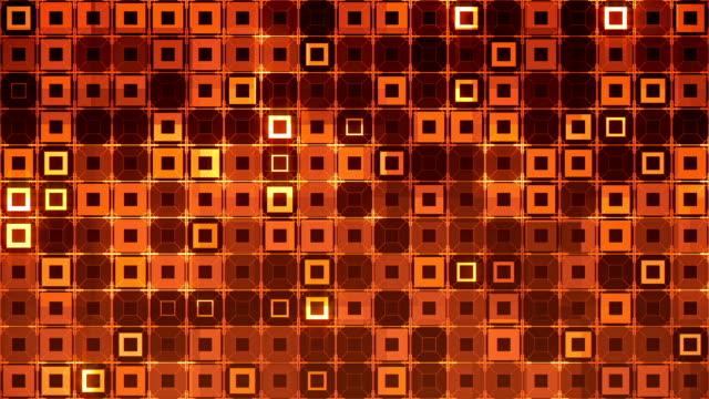 Abstract squares orange video