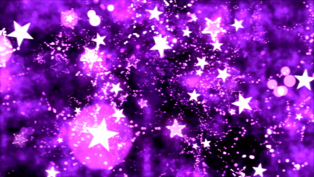 Abstract Star Shapes, Space - Loop Purple video