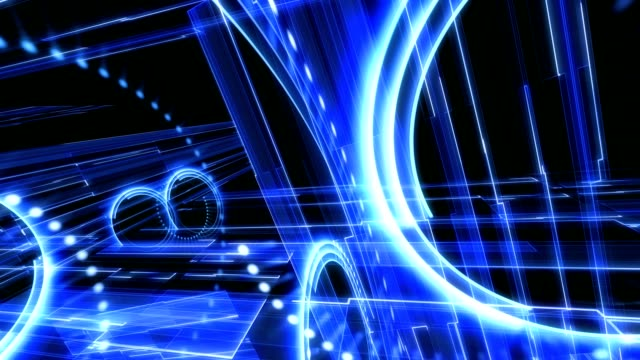 Abstract  technological composition, looable video