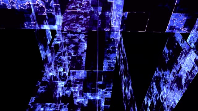 Abstract technological composition, loopable video