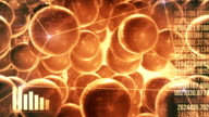 Abstract Technology Background (gold) - Loop video