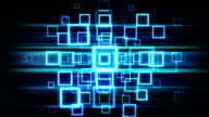 Abstract Technology blue  squares loopable background footage video