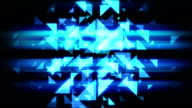 Abstract Technology blue  triangles loopable background footage video