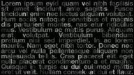 Abstract Text Design (Lorem Ipsum) video