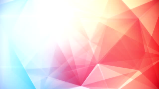 abstract triangle geometrical blue red background loop video