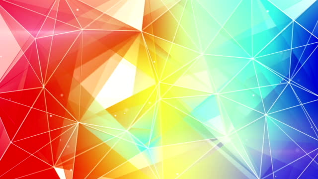abstract triangle geometrical colorful background loop video