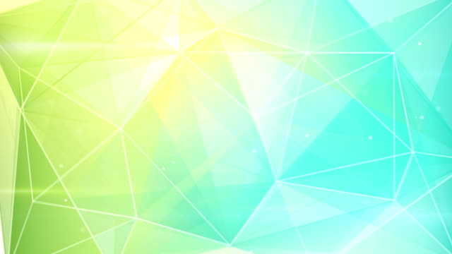abstract triangle geometrical green cyan background loop video