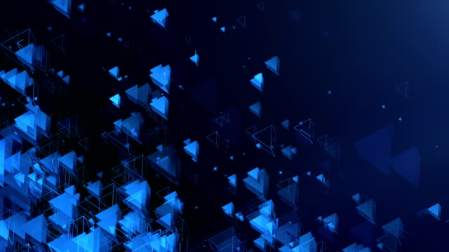 Abstract Triangles Background (Blue, Dark) - Loop video