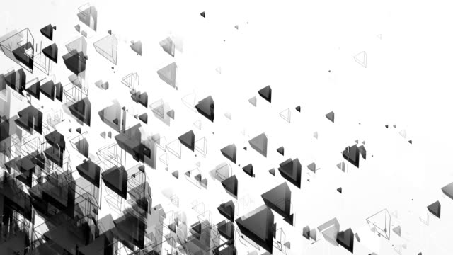 Abstract Triangles Background (Black & White) - Loop video