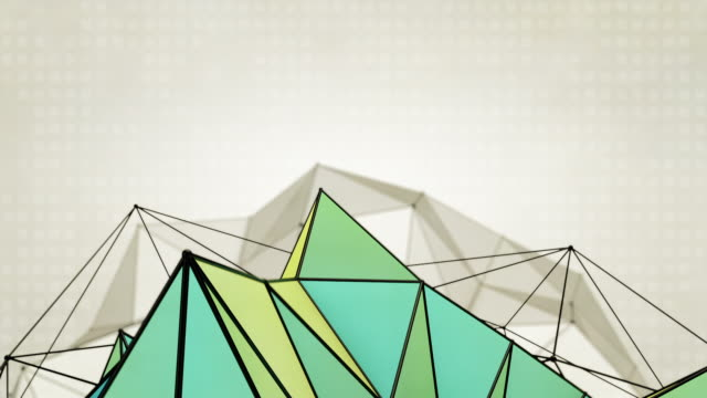 Abstract Triangles Background Loops  2 Variations - Blue Yellow (HD) video