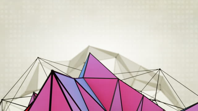 Abstract Triangles Background Loops - 2 Variations  Purple Orange (HD) video