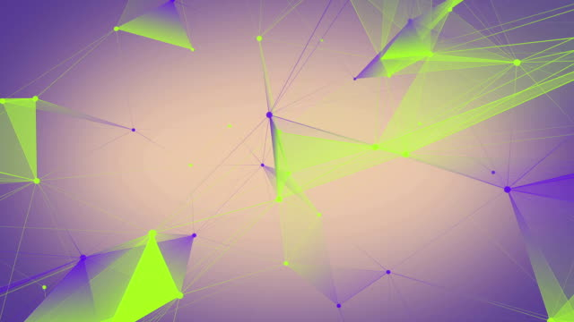 Abstract triangles connections background video