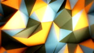 Abstract triangles loopable background footage video