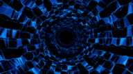 Abstract triangular crystalline tunnel animation video