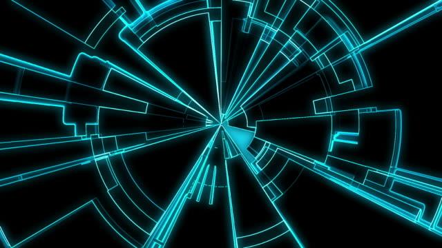 Abstract Tron Grid Loop video