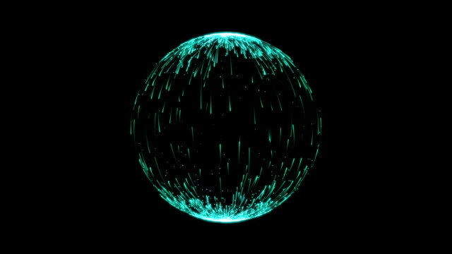 Abstract Turquoise Spherical Backgrounds video