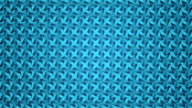 Abstract video turquoise blue geometric background seamless loop. video
