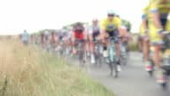 Abstract View Of Competitors In Cycle Race video