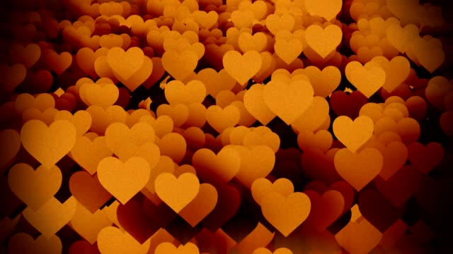 Abstract vintage Hearts background video