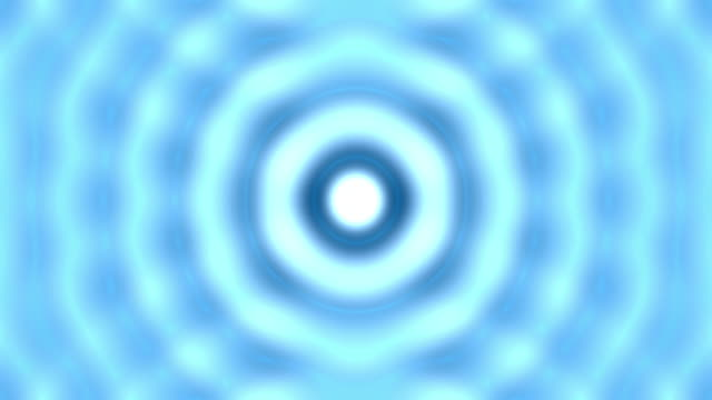 Abstract water ripples on blue background video