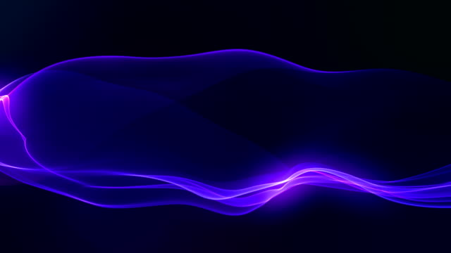 Abstract Wavy Shapes on the dark background. video