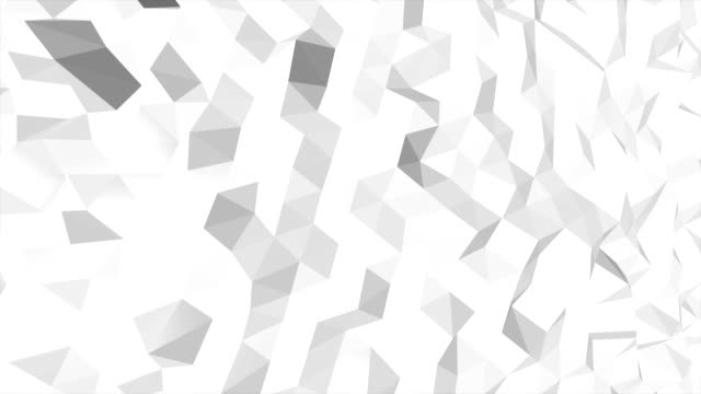 Abstract white and black geometric triangle Polygon background in endless loop, 4K(UHD) video