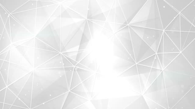 abstract white triangles and lines background seamless loop video