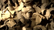Abstract wood shavings paper cloth pulsating background backdrop video