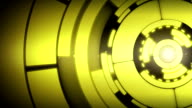 Abstract Yellow Circle Spin Motion Background video