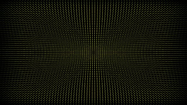 Abstract yellow grid on a black video