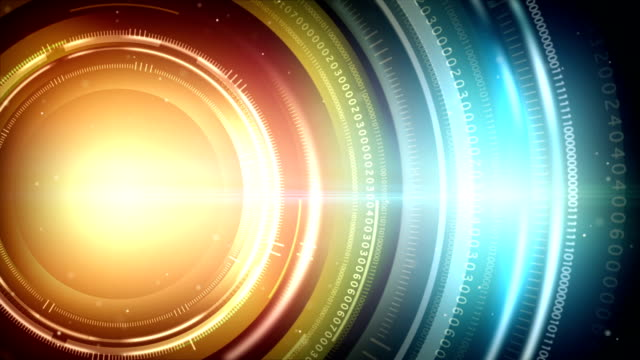 Abstraction digital circles light background video