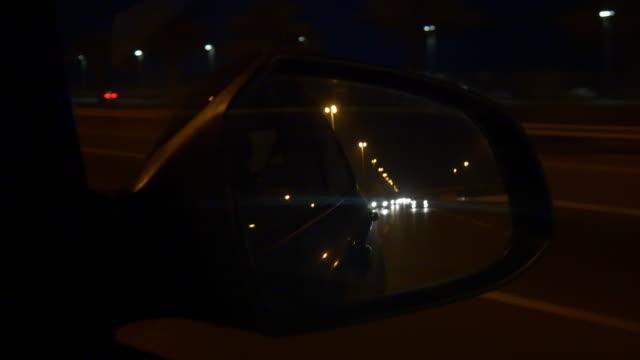 abu dhabi dubai road trip night side mirror panorama 4k united arab emirates video