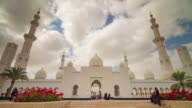 abu dhabi sky run world famous mosque panorama 4k time lapse united arab emirates video