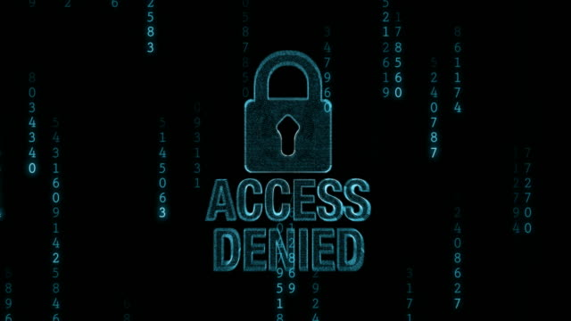 Access Denied with Padlock video