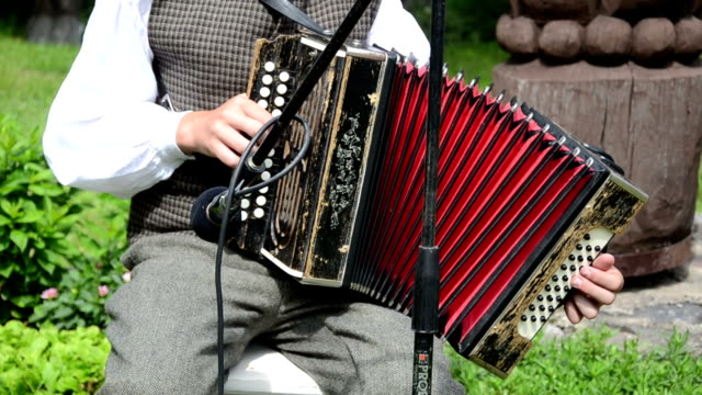 accordion hand folk music video