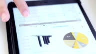 Account audit typing on digtal table,Chart video